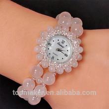 Natural Powder Crystal Bracelet Watch Weave Lady Watch