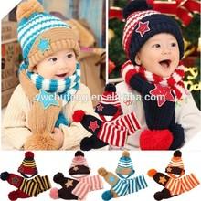 lovely stars scarf & hat set baby warm scarf set