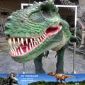 Mi- dino de látex realista las piernas oculta traje de dinosaurio