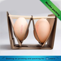 customized corrugated paper 2 eggs packs paper egg box for sale