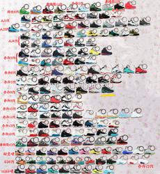 PVC rubber air jordan sneaker keychains wholesale for promotional