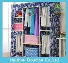 Home Storage Portable Folding Assemble Fabric Wardrobe