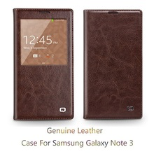 Hot ! For Samsung Galaxy Note 3 View Case , Premium Ultra Slim Flip Battery Cover Leather Case with Auto Sleep Wake Function