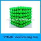 Fluorescent green neocube/magnet balls