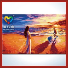 diy painting by number kits 50*80cm magnolias canvas oil painting