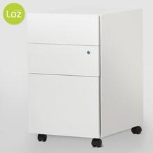 3 drawer white filing cabinet Metal documents cabinet locker office, factory ,school, home four castors