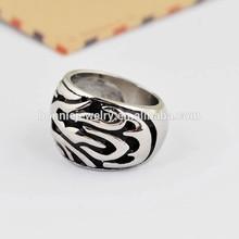 Wholesale cheap men Ring jewelry 316L stainless steel black enamel rings