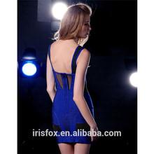 Azul real con tirantes corto nuevos vestidos productos de china
