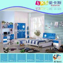 Foshan móveis com cama dos miúdos, roupeiro, mesa 8331