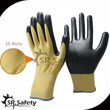 SRSAFETY 13G U3 liner coated nitrile palm industry nitrile gloves