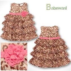 2014 new fashion girls kids wear birthday dress many ruffles baby chiffon dress for kids summer dress children-latest-style