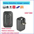 Webcam senza fili con rilevazione di movimento di tutti i tipi telecamera nascosta, caricabatterie macchina fotografica pq123