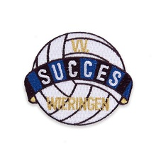 fabric custom textiled logo embroidered emblem