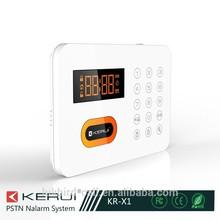 NEW!!!low price high quality Smart Touch panel Smart PSTN wireless home burglar alarm security systems sms alertKR-X1