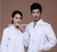 long white lab Coat;High Quality doctors lab Coat;100% cotton lab coat