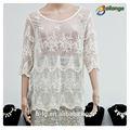 Blusas bailange& tapas tipo de producto blusa de encaje de moda nuevo hueco fuera de mujer elegante blusa de señora