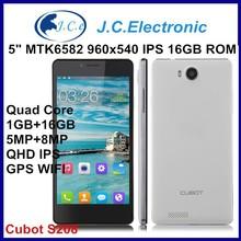 "CUBOT S208 1+16GB Quad-core Processor Android 4.2.2 Cellphone 5.0"" Screen 8MP Camera Russion Language"