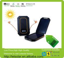 Foldable solar panel 6000mah solar mobile phone charger for iPhone/iPad/Samsung panel solar