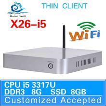 new arrival 1080P Slim desktop computer x26-i5 fan desktopi5 3317u network mini industrial pc 8g ram 8g ssd support usb flash