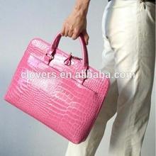 Crocodile pattern lady pu laptop bag