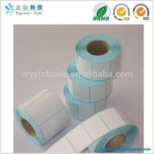 Thermal printer roll self adhesive label sticker