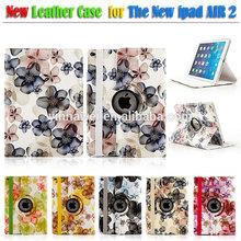 For ipad air 2 case, for ipad 6 case, for ipad air 2 leather case