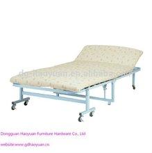 Metal Foldaway Guest Foam Beds With Wheels