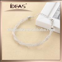 direct jewelry factory naked diamond in brass net tube shinny bracelet
