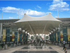 outdoor pavilion tent membrane steel structure architecture