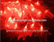 10m 100leds 6w 24v 100 led fairy lights Maple Leaf tree bedroom CE&RoHS certificated