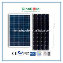 High efficiency monocrystalline/polycrystalline solar panel 100 watt