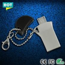 Hotselling newest 8GB capacity mini metal OTG USB flash drive