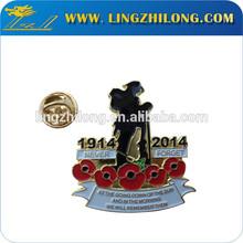 Custom metal souvenir poppy lapel pin badges
