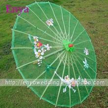 EYNU20 Green Chinese Style Wedding Parasol Umbrellas