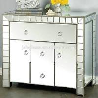 JSN041 modern mirrored bedside chest mirrored nightstand bedroom 3 drawer nightstand chest mirror bedside 3 drawer