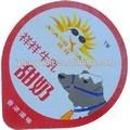 corte de aluminio pre etiquetas de papel de aluminio para el envasado de leche y productos lácteos