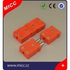 ANSI code mini type flat pin thermocouple plugs