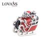 2014 New Arrived Enamel Silver Santa Charms Jewelry Wholesale YZ640