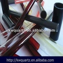 fused dark red quartz tube from donghai kaiwang lianyungang jiangsu