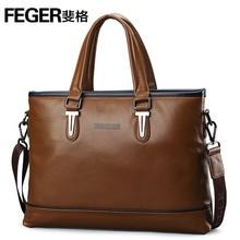 2014 New Arrival Genuine Leather Men's Brand Briefcase
