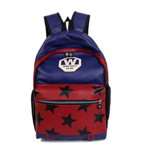 Travelling Rucksack Bag School Backpack PU Leather Bags In stock
