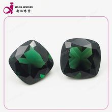 Natural Square quartz crystal green topaz