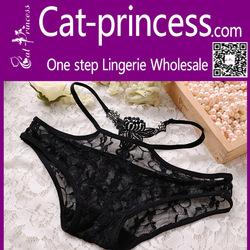 Valentine romantic black lace transparent panty girls pics