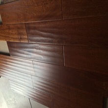 Handsraped Finished Chinese Catalpa Solid Wood Flooring