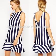 2014 hot sale puffy fashion stripy party rockabilly dress china