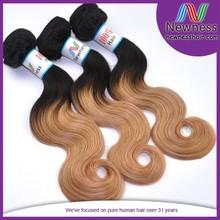 weave free shipping non remy double drawn 100% briazilian virgin human har