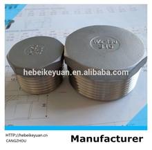 "150# stainless steel 304 npt hex plug 2"""