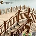 Casa de madeira pré-fabricada de borracha da escada piso