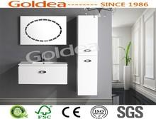 2014 GOLDEA PVC Foiled Bathroom Cabinet Wooden Cabinets Hangzhou Export
