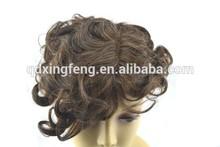 Wholesale alibaba Accept Paypal Swiss lace PU skin mixed grey wig